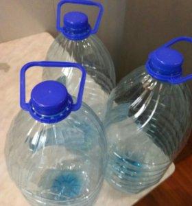 Пластиковые 5 л бутылки