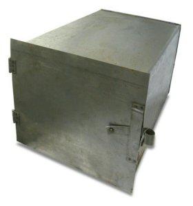Железный короб для печи с углем