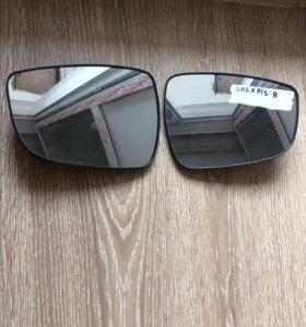 Зеркало L Хендай Солярис с поворотником