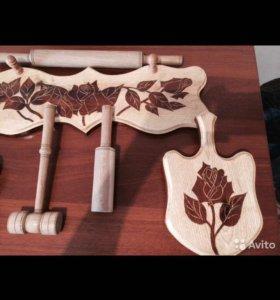 Набор деревянный для кухни