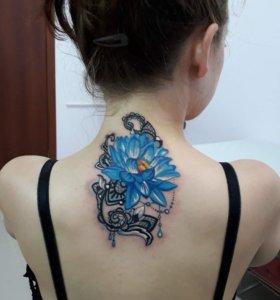 Художественные татуировки,татуаж губ,бровей.