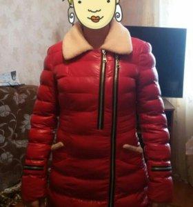 Зимняя куртка из эко кожи