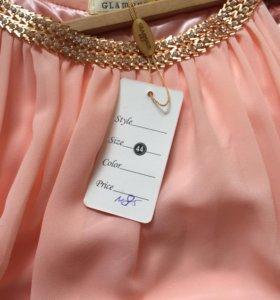 Платье шифоновое в пол,р44