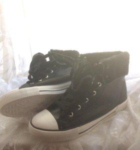 Кеды- ботинки зимние новые