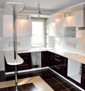 Кухонный гарнитур «Черно-белый»