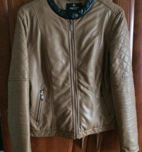 Куртка кож.зам, утеплённая