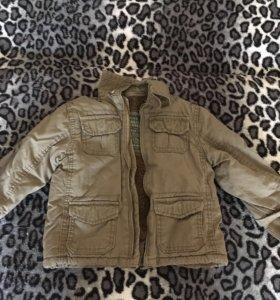 Новая тёплая куртка(весна)на 1-2 г