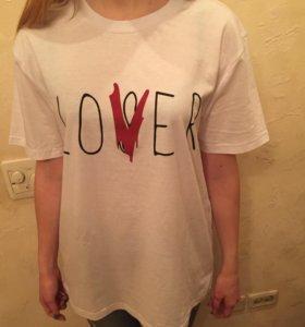 """Хлопковая футболка """"loser-lover"""""""
