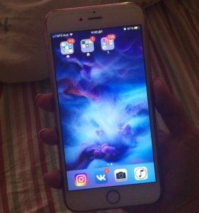 Айфон 6s+ розовое золото 64 гб