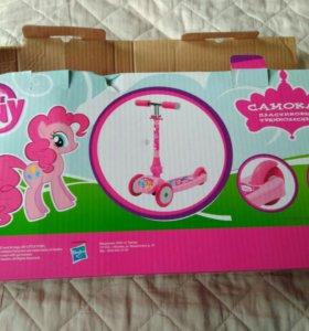 Самокат Hasbro my little pony 3х колесный