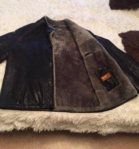 Мужская кожаная куртка(зима)