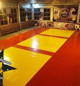 Спортивный пол для спортзала для карате, борьбы