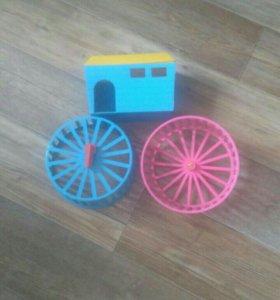 Домик и колеса для хомячка