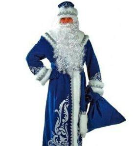 Костюм Деда Мороза аппликация синий