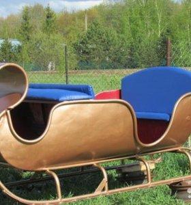 для лошади или лошадей парадные сани
