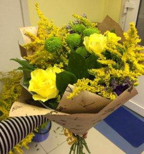 Букет букетик букеты желтый в желтых тонах