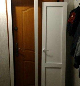 Пластиковая новая дверь