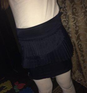 Юбка синяя школьная
