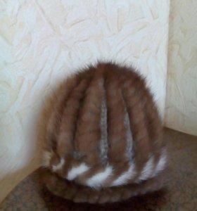 Шапка зимняя вязаная норка