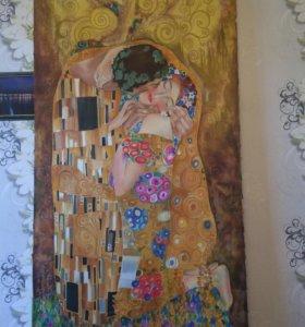 Картина батик (роспись по шёлку,атлассу