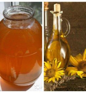 Кориандровый,майский мед и масло