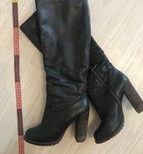 Кожаные сапоги 38 размер