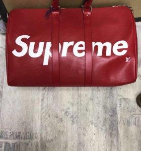 Дорожная сумка Louis Vuitton кожа