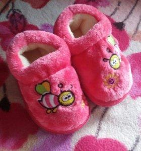 Новые!Детские тапочки- ботиночки