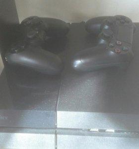 Sony Playstation 4 Black 2 джойстика,