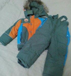 Пуховик-куртка и полукомбинезон