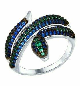 Серебряное кольцо 94012578 с фианитами