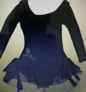 Купальник для танцев черный