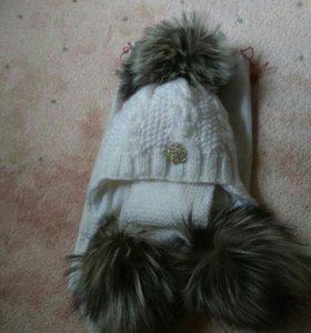 Шикарный шапка+шарф
