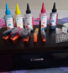 Принтер Canon Pixma с заправляемыми картриджами