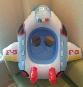 Intex Надувной самолет лодка и Круг плот 1год+