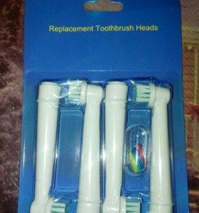 Сменные головки для электрической зубной щетки.