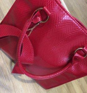 👠Кокетливая лакированная Красная сумочка 👜