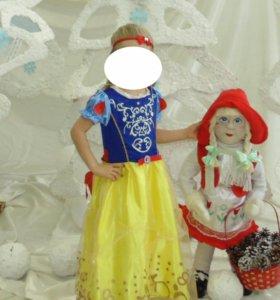 Новогодний костюм платье Белоснежки