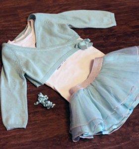 Нарядная одежда для девочки 18-24 мес