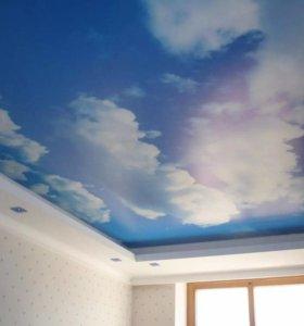 💥 Натяжной потолок розовый и еще варианты