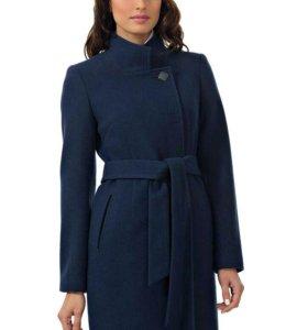 Демисезонное темно синее стильное, модное пальто