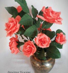 Сладкий букет - чайные розы с Осенний вальс