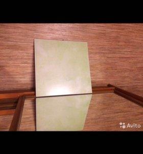 Напольная плитка 17 штук  салатового цвета325*325