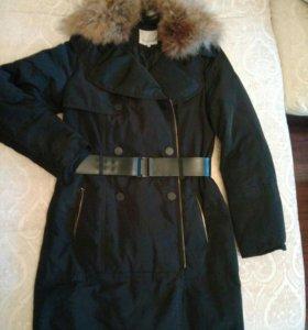Пальто плащовое, зимнее
