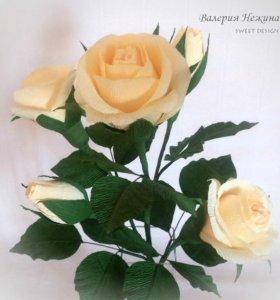 Конфетный букет - желтые розы