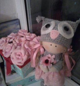 Кукла текстильная малышка