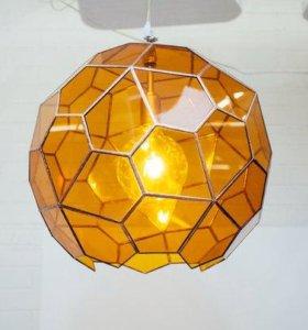 Светильник «Мед» потолочный (цветное стекло)