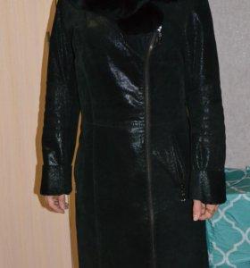 Демисезонное пальто косуха