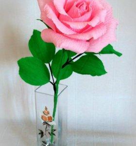 Сладкий комплимент - розовая роза с Рафаэлло