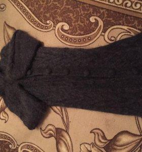 Пальто из ангорского пуха ручной работы